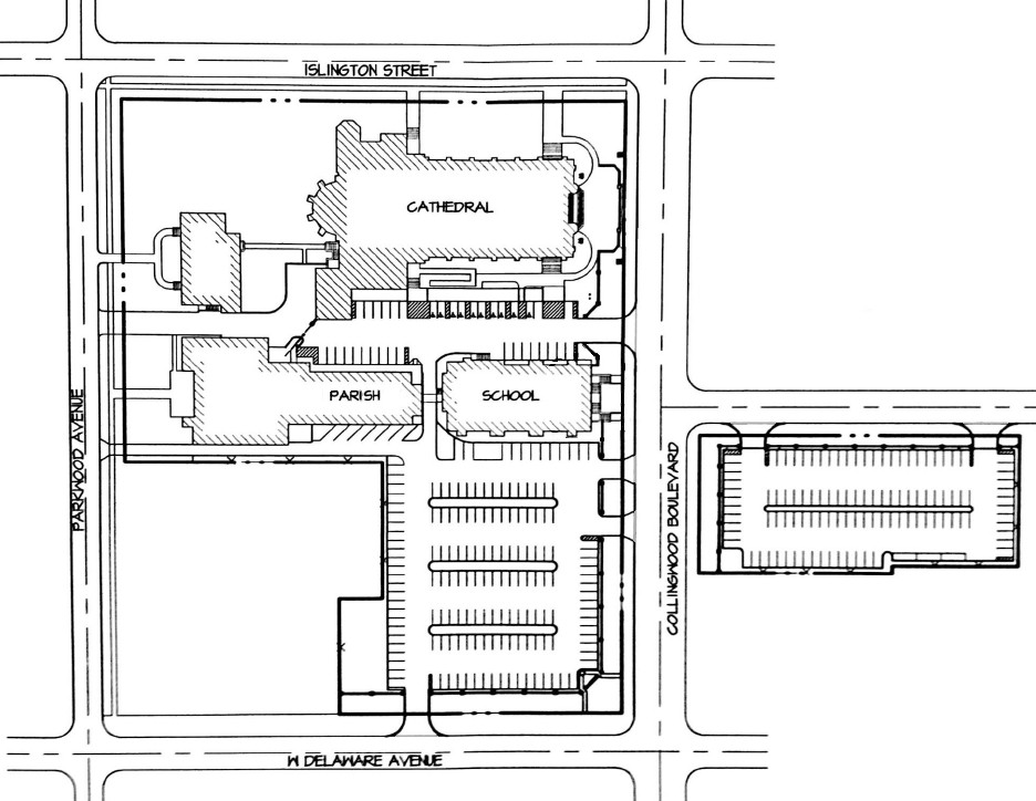 Rosary Cathedral Map