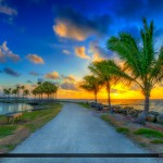 Coral Gables Florida Sunrise from Matheson Hammock Park