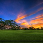 Commons Park Golf Course Sunset Over Green Grass Royal Palm Beac