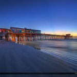 Cocoa Beach Pier at Beach Before Sunrise