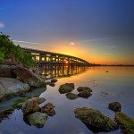 Merritt Island Causeway Bridge at Cocoa Florida from Lee Wenner