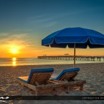 Beach Chairs and Umbrella at Lake Worth Pier