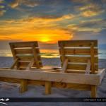 Beach Chairs at Lake Worth Beach for Sunrise