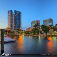 Cityscape at the downtown Fort Lauderdale area in Broward County along the New River. HDR  image tone mapped and created using EasyHDR and Topaz software.