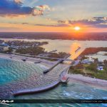 Boynton Beach Inlet During Sunset Over the Waterway
