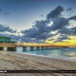 Sunny Isles Florida Along the Beach at Sunrise