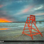 Jacksonville Beach fishing pier sunrise