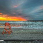 Jacksonville Beach Beautiful early morning sunrise