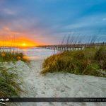 Jacksonville Beach  entrance to the beach at sunrise