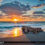 Amazing Sunrise Florida Beach Landscape