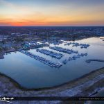 Fort Pierce Aerial Marina After Sunset