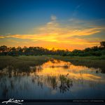 Sunset Over Loxahatchee Florida at Acreage Pines Natural Area