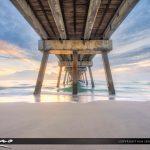 Juno Beach Sunrise Under Pier