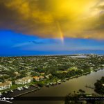 Aerial Juno Beach Waterfront Property along the Intracoastal