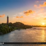 Jupiter Florida at the Lighthouse from Waterway