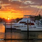 Sportsmans Park Marina Lantana Florida Sunset