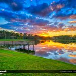 Happy Colors Over Coconut Park in Loxahatchee Florida