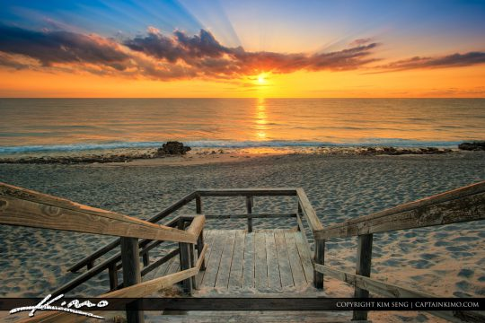 Coral Cove Sunrise Stairway Beach