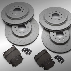 PERFORMANCE BRAKE ROTORS AND PADS
