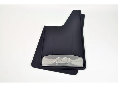 Ford Splash Guards - Heavy Duty, For Front or Rear, With Bright Insert