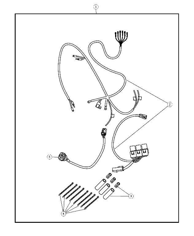 2008 2009 Chrysler Aspen Wiring Kit - Off Road - Switch  Fog Lamp 68005178AC