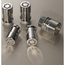 Wheel Locks - Chrome Plated For Exposed Lugs