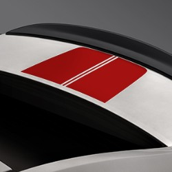 REAR COMPARTMENT LID DECAL, RED