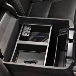 FRONT CENTER CONSOLE ORGANIZER TRAY, BLACK (MUST PROVIDE VIN TO VERIFY FITMENT)(NOT FOR CADILLAC)