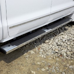 STEP PKG 6 INCH RECTANGULAR, CHROME (CREW CAB)