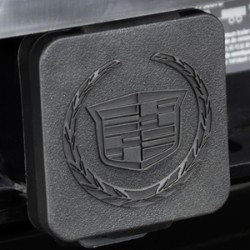 HITCH RECEIVER INSERT COVER WITH CADILLAC