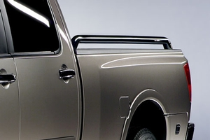 CHROME BED TUBE RAILS CREW CAB SHORT BED