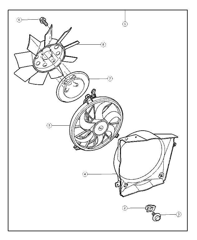 2004-2007 Jeep Liberty Fan Kit - Engine - Fan  Cooling 55037691AA