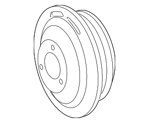 2007-2009 Mercedes-Benz CL550 Pulley 000-466-20-15