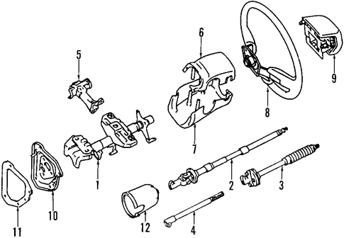 toyota oem parts diagram steering column  toyota  free