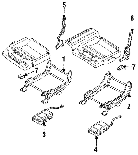 buick rainier parts diagram seat  buick  auto wiring diagram