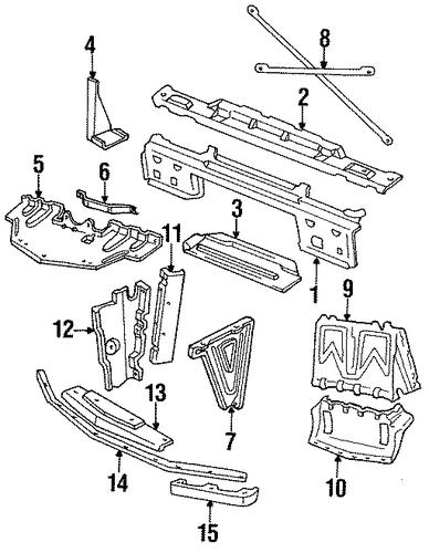 10118485 air deflector for 1984 pontiac firebird