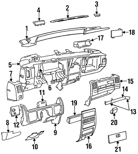 switches for 1995 jeep grand cherokee