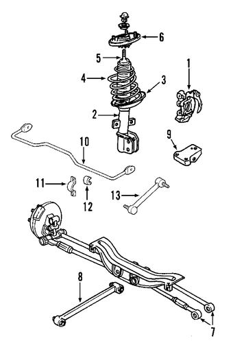 rear suspension for 2006 buick lacrosse