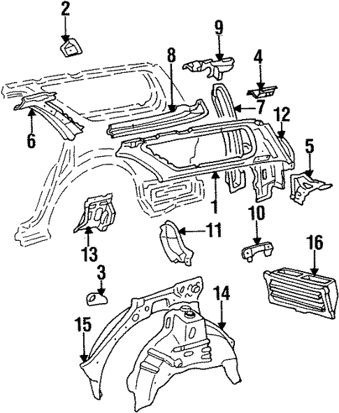 Inner Structure For 1996 Toyota Camry