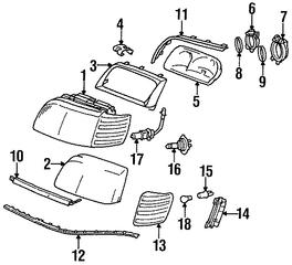 1998 1999 Mercedes-Benz S320 Molding 140-826-03-77