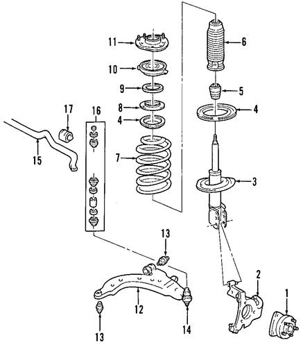 suspension components for 2004 pontiac aztek
