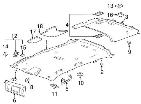 Interior trim roof for 2015 chevrolet suburban for Chevrolet suburban interior parts