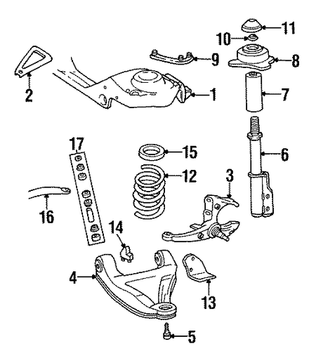 FRONT SUSPENSION/SUSPENSION COMPONENTS for 1992 Chevrolet Camaro #1