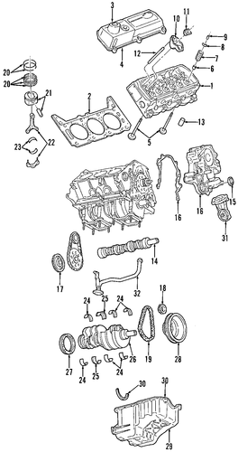 Engine  Engine Parts For 1999 Ford F