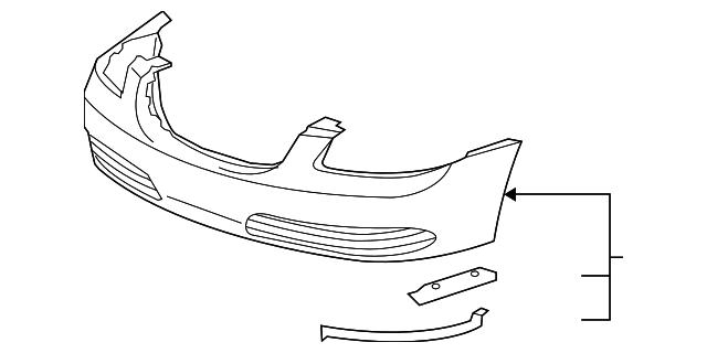 2006 cadillac cts bumper parts