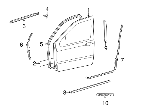 Door components for 1998 mercedes benz ml320 for 1998 mercedes benz ml320 parts