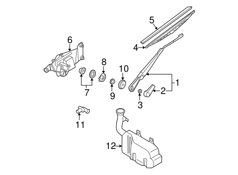 Wiper And Washer  ponents Scat as well  on nissan frontier wiper arm