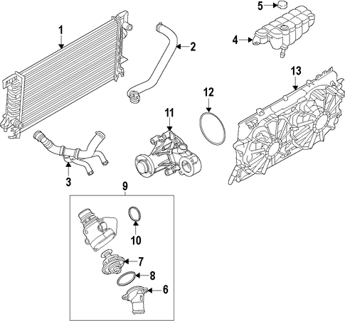 RADIATOR   COMPONENTS for 2015    Ford       F      150