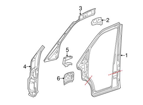 2007-2009 Dodge Sprinter 2500 Aperture Panel Bracket 68005134AA