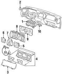 1998-2002 Ford Crown Victoria Speedometer F8AZ-17255-AA